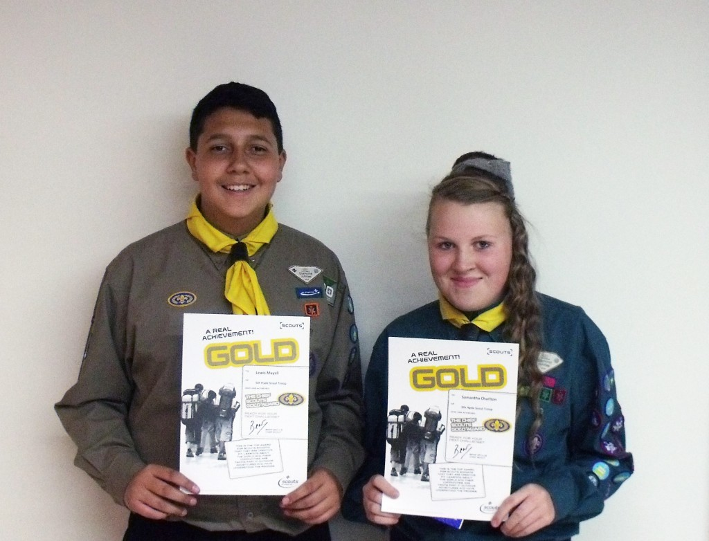 5th Hyde Scouts achieve their Chief Scouts Gold Award