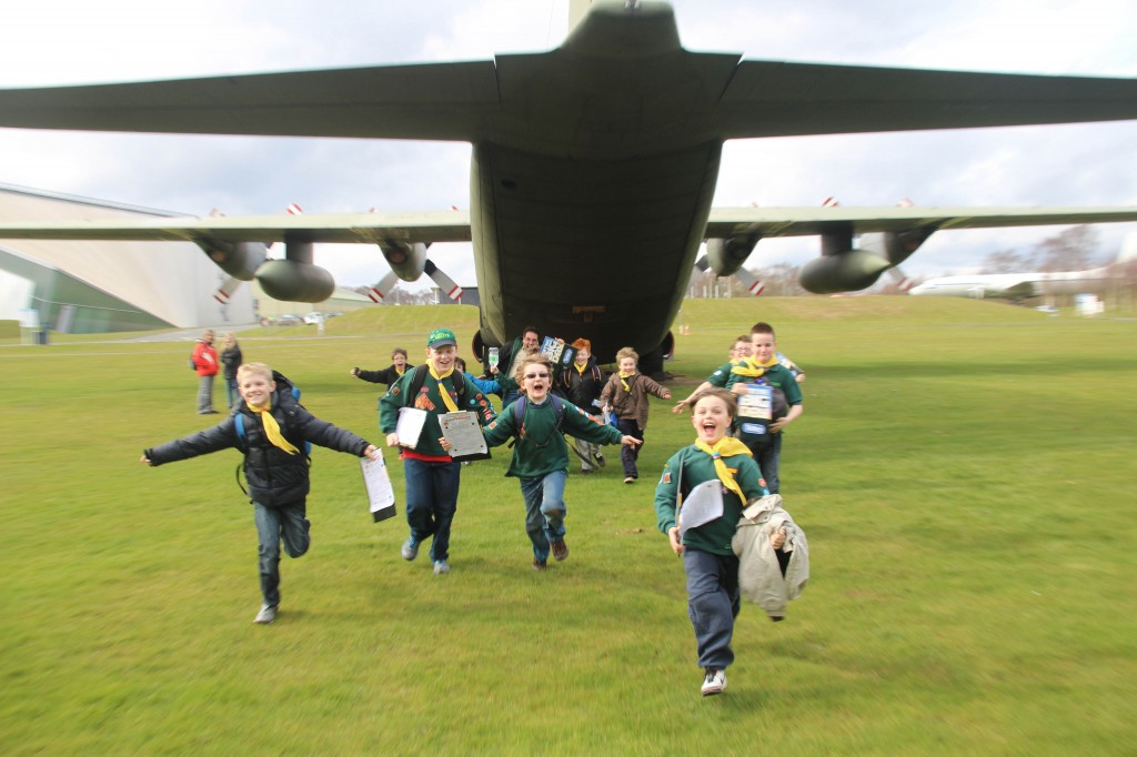 Tameside South Scout District visit RAF Cosford